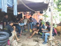 The gang from from left: Ashutosh Dixit, Pavan, Swarna Singh, Shubham Tiwari, Vishwanath Jha, Satyam Shukla, Yours Truly, Ayush Mishra, Vineet Verma